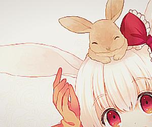 anime, kawaii, and bunny image