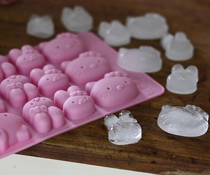 hello kitty, ice, and pink image