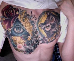 owl, illuminati, and tattoo image