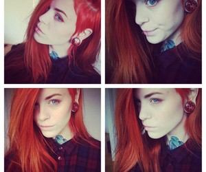 red hair, stretched ears, and redhead image