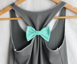 fashion, bow, and blue image