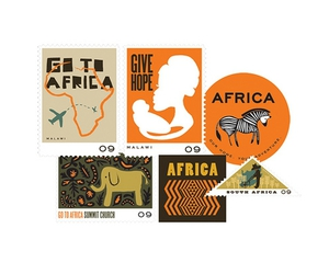 africa, stamps, and illustration image