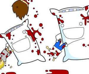 blood, funny, and pillow image