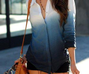 style, blue, and bag image