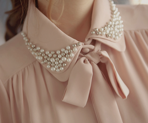 fashion, pink, and pearls image