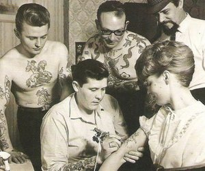 tattoo and vintage image