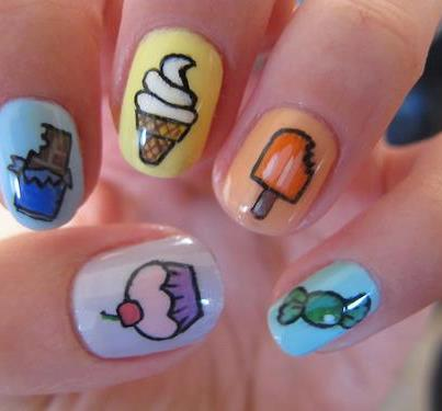 nails, candy, and chocolate image