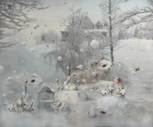 animals, art, and cold image