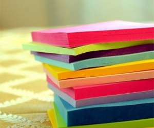 color post its image