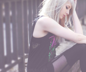 alone, blonde, and cool image