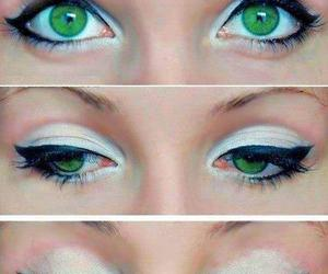 eyes, make up, and green image
