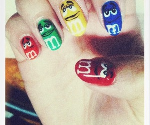 nails, cute, and m&m image