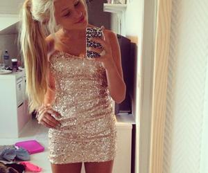 girl, blonde, and dress image