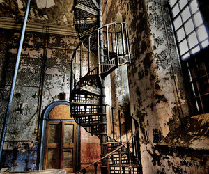 abandoned, stairs, and old image