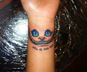 tattoo, mad, and cat image