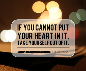quote, heart, and lights image