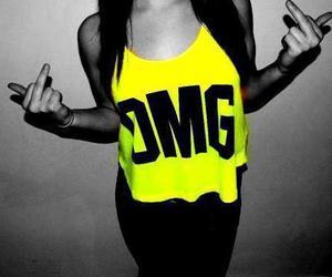 fuck you, girl, and yellow image