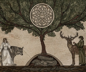 celtic and wolf image