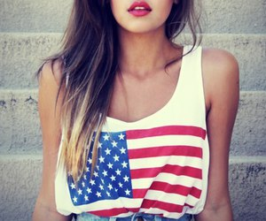 beautiful, flag, and girl image