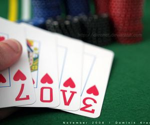 card, cards, and love image