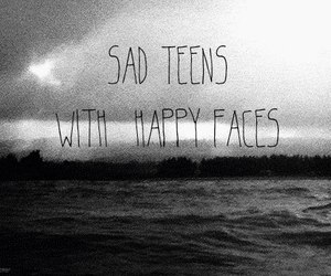 faces, happy, and sad image