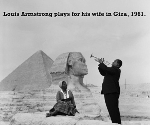 louis armstrong, romance, and travelling image