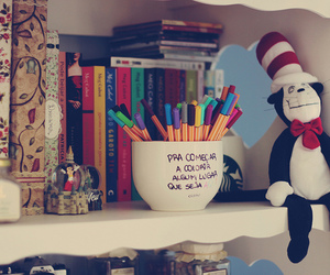 book, pen, and cute image