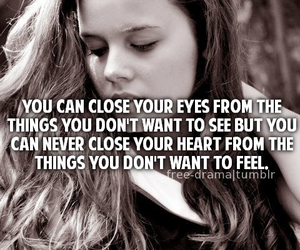 close, girl, and quote image