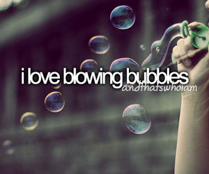 bubbles, love, and text image