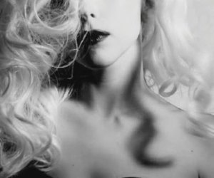 Lady gaga, black and white, and hair image