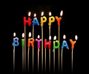 happy birthday and candles image
