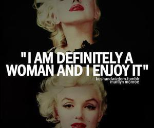 Marilyn Monroe, woman, and quote image