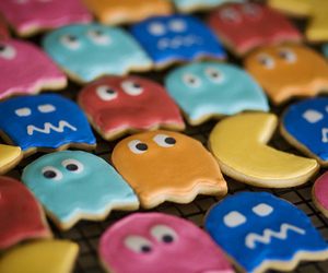 pacman, colourful, and Cookies image