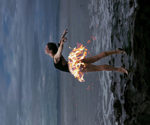 fire, girl, and ballet image