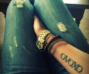 jeans, tattoo, and ovoxo image