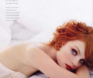 blue eyes, redhead, and Jessica Stam image