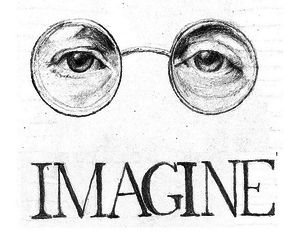 imagine, john lennon, and the beatles image