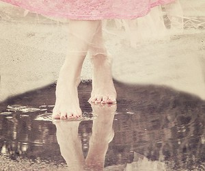 girl, pink, and feet image