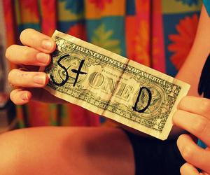 stoned, money, and dollar image