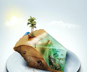 beach and cake image