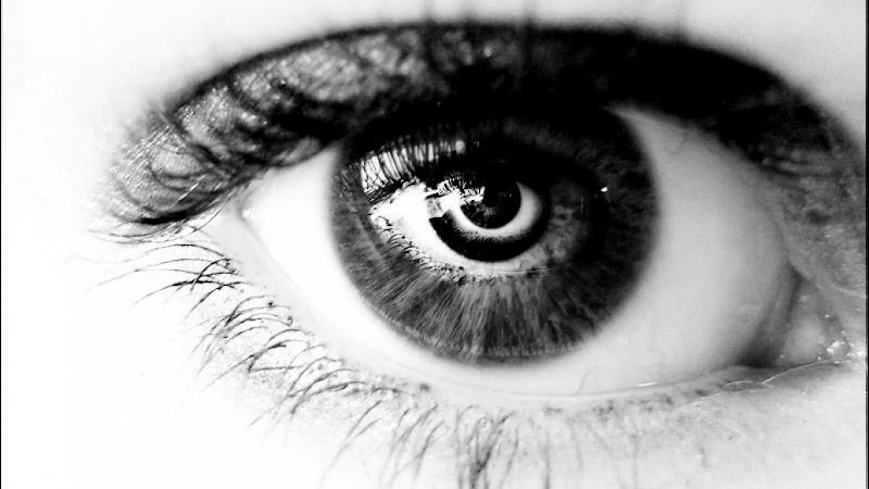 beautiful, black and white, and eye image