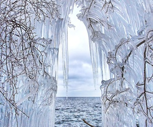 ice, winter, and sea image