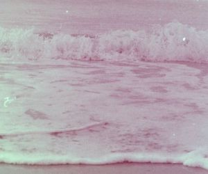 pink, sea, and beach image