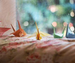 origami, photography, and crane image