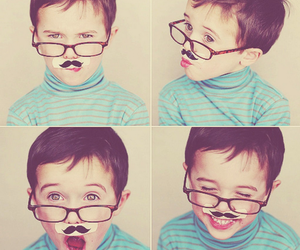 <3, adorable, and mustaches image