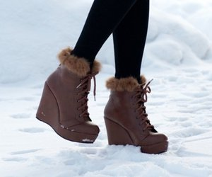shoes, snow, and boots image