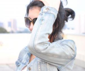 girl, jeans, and sunglasses image