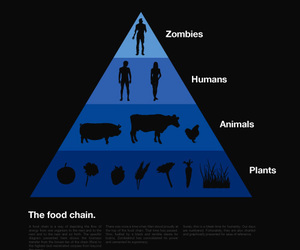 food chain, zombies, and zombie image