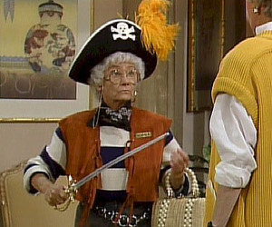 pirate, golden girls, and sword image