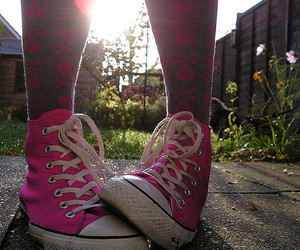 converse, legs, and light image